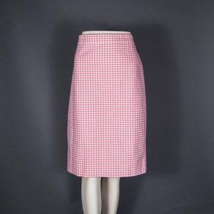 NEW J Crew Pink Gingham No 2 Pencil Skirt